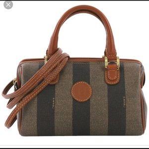 Vintage Fendi Pequin Boston Bag ✨